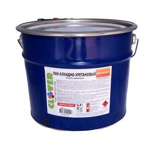 Лак алкидно-уретановый глянцевый, бесцветный, евроведро 20 кг